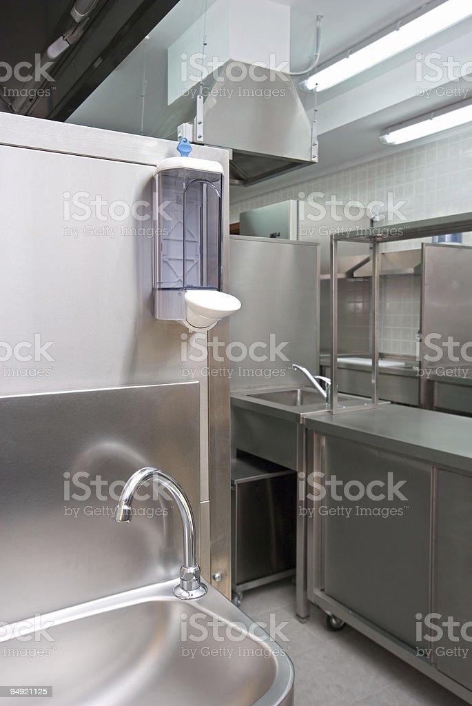 Hotel kitchen royalty-free stock photo