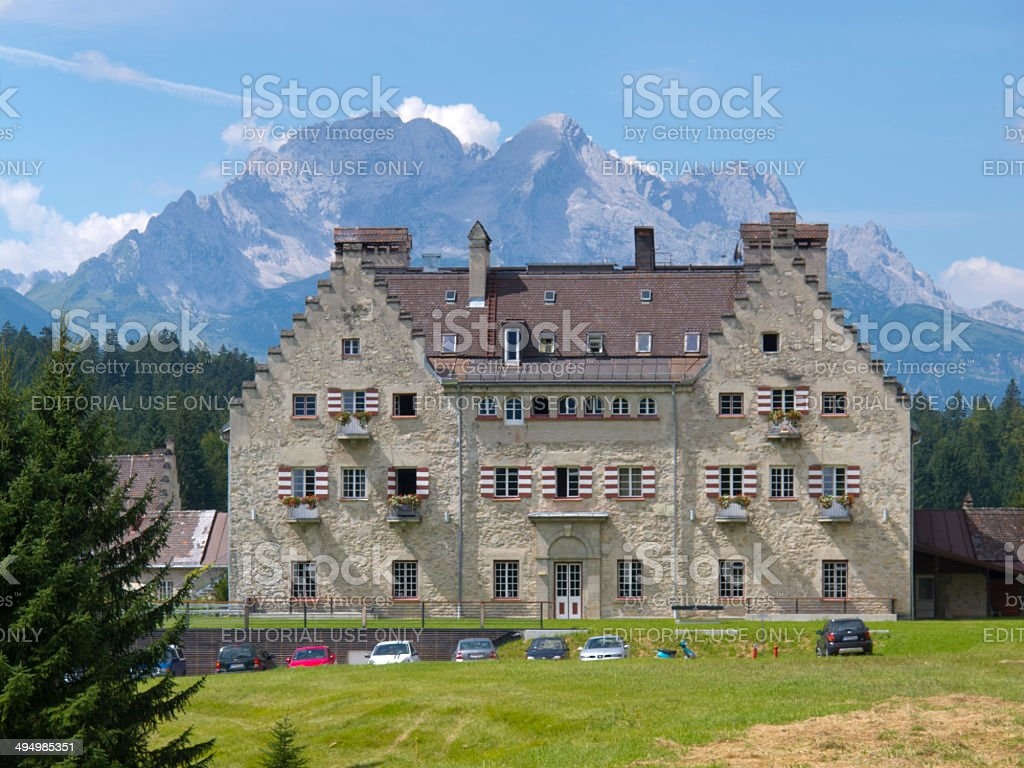 Hotel Kranzbach at valley Elmau royalty-free stock photo