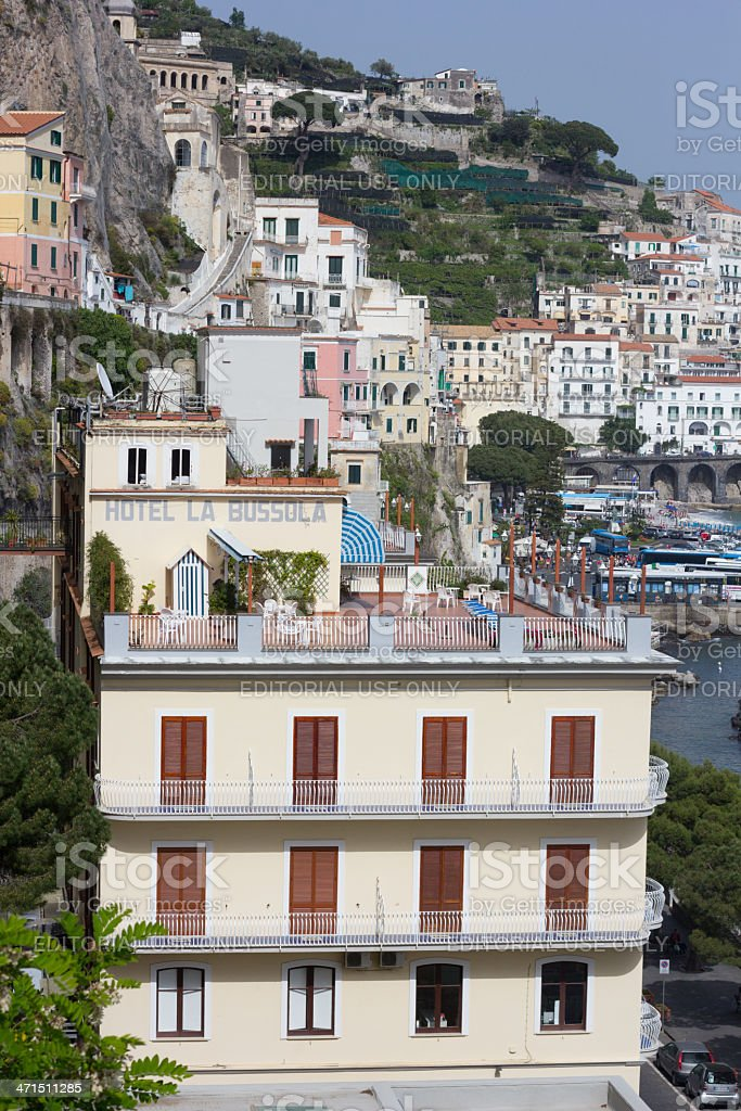 Hotel La Bussola in Amalfi, Italy royalty-free stock photo