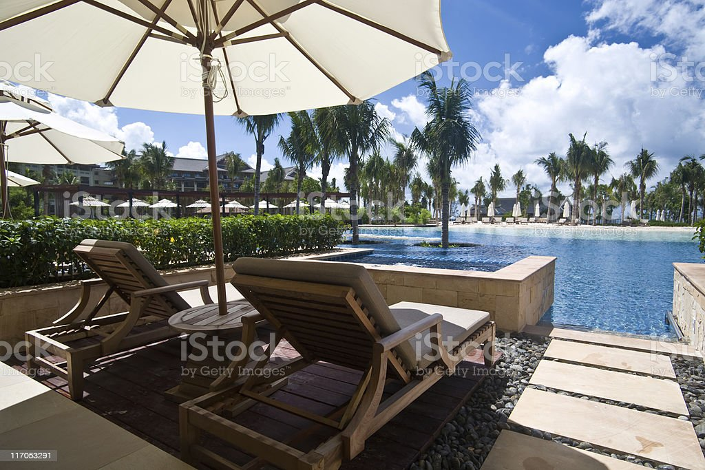 Hotel lagoon room royalty-free stock photo