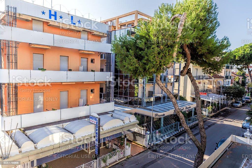 Hotel Leopard. Rimini stock photo