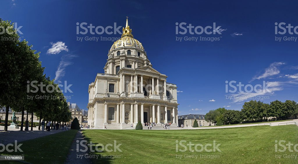 Hotel les Invalides in Paris royalty-free stock photo