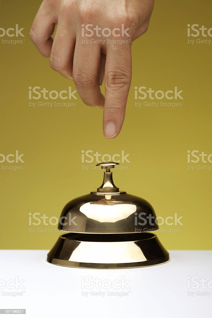 Hotel life: reception bell stock photo