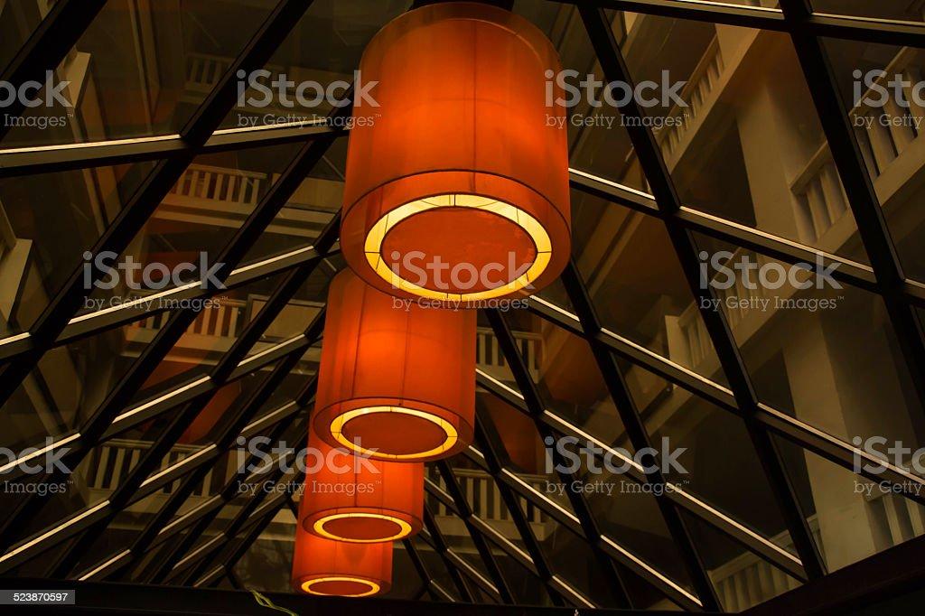 Hotel lighting stock photo