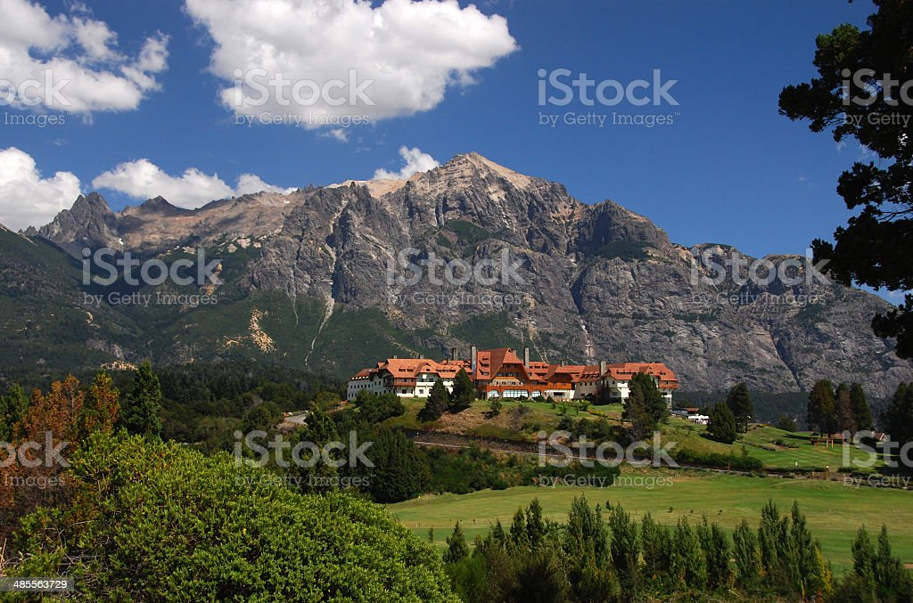 Hotel Llao Llao near Bariloche, Argentina stock photo