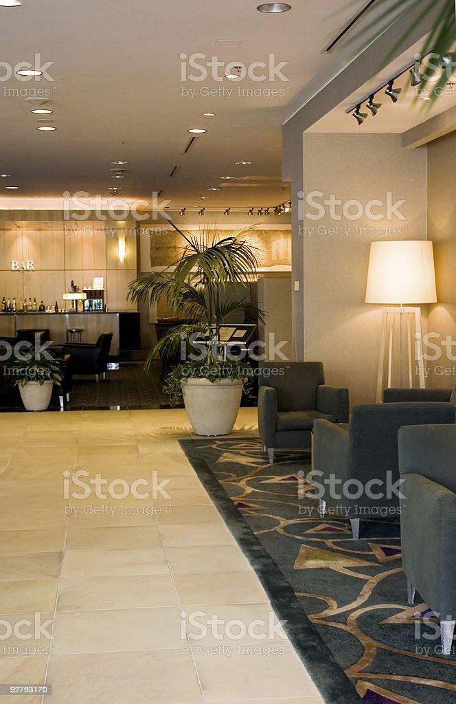 Hotel lobby and bar royalty-free stock photo