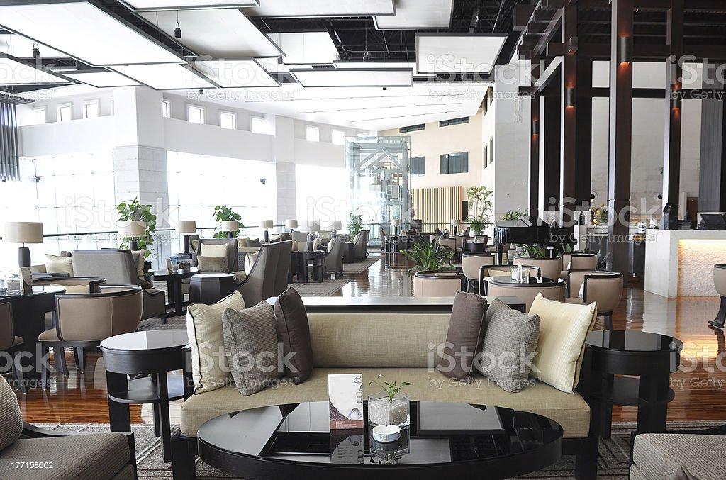 Hotel lounge stock photo