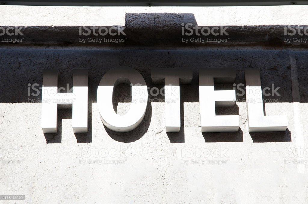 Hotel lyrics royalty-free stock photo