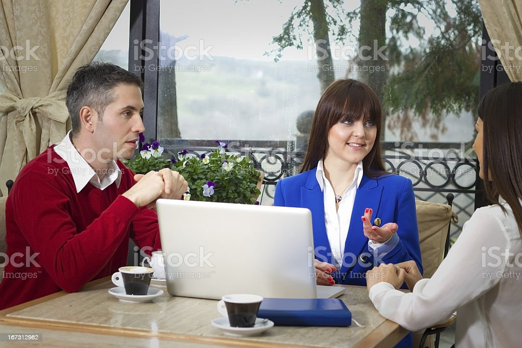 Hotel Management workgroup royalty-free stock photo