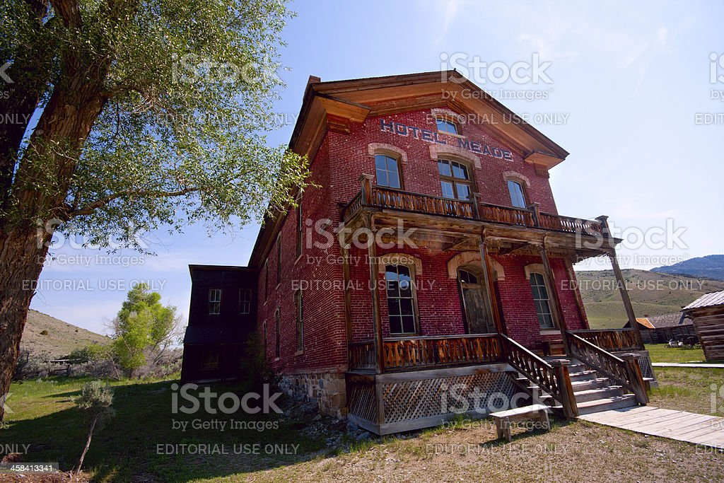 Hotel Meade in Bannack Montana Ghost Town stock photo