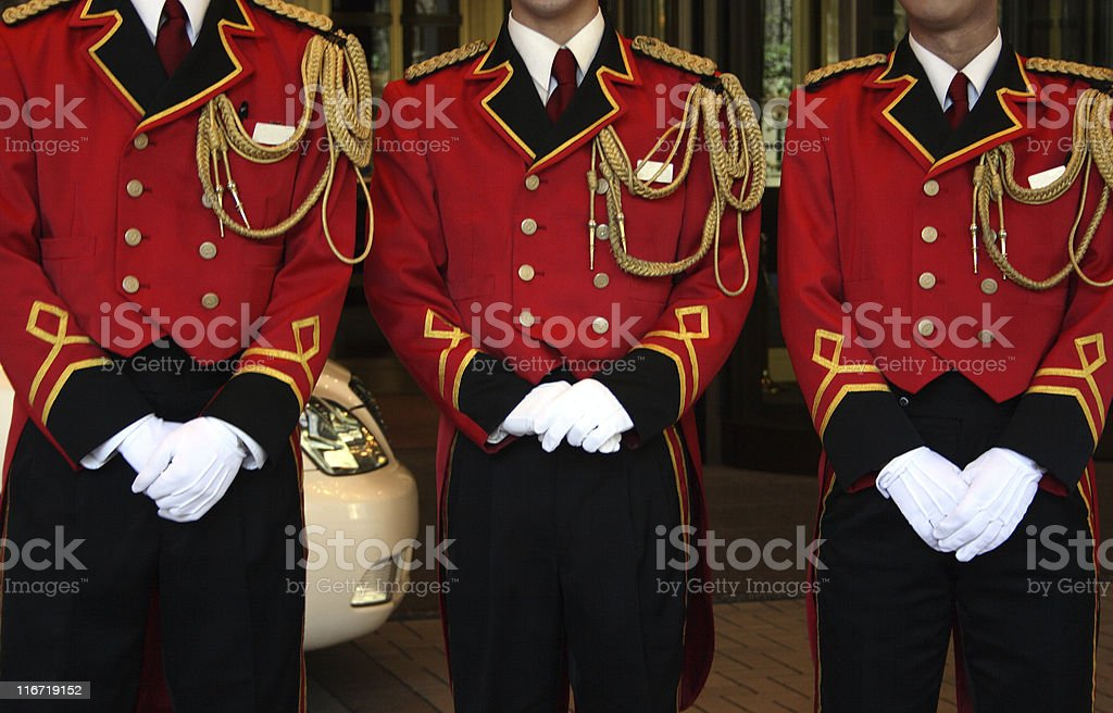 Hotel messengers royalty-free stock photo