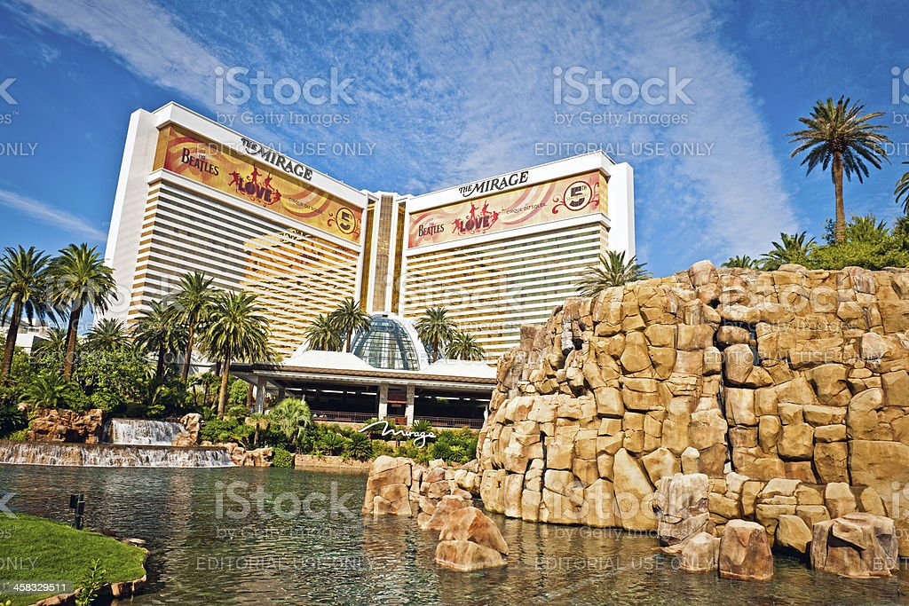 Hotel Mirage, Las Vegas, Nevada, USA royalty-free stock photo