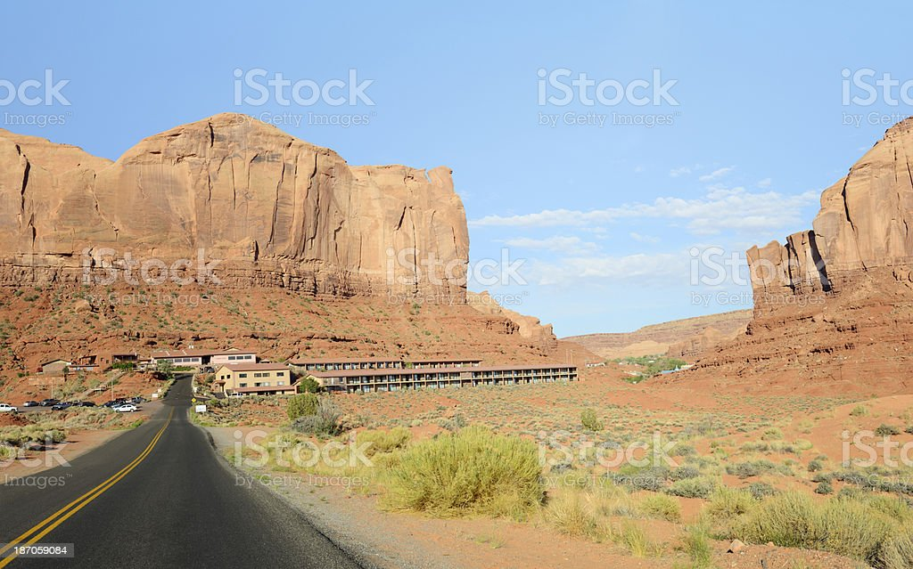 Hotel, Monument Valley stock photo