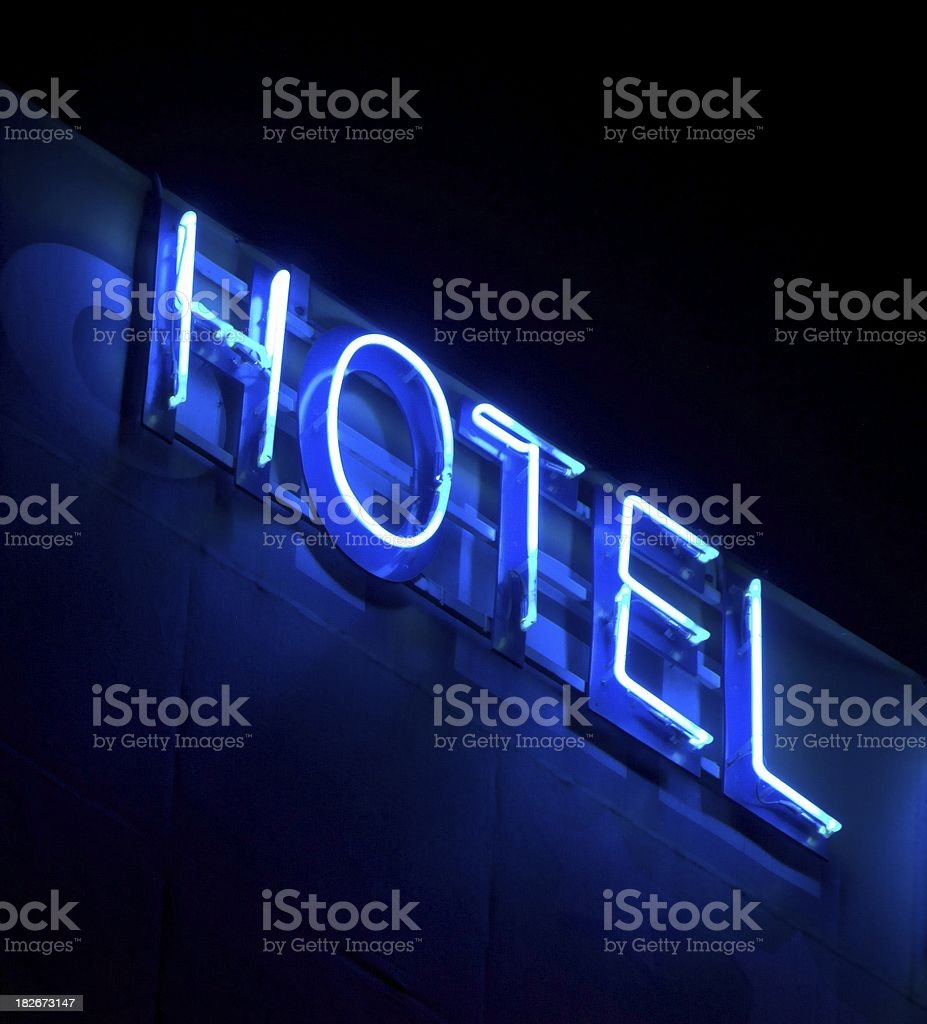 Hotel Neon royalty-free stock photo