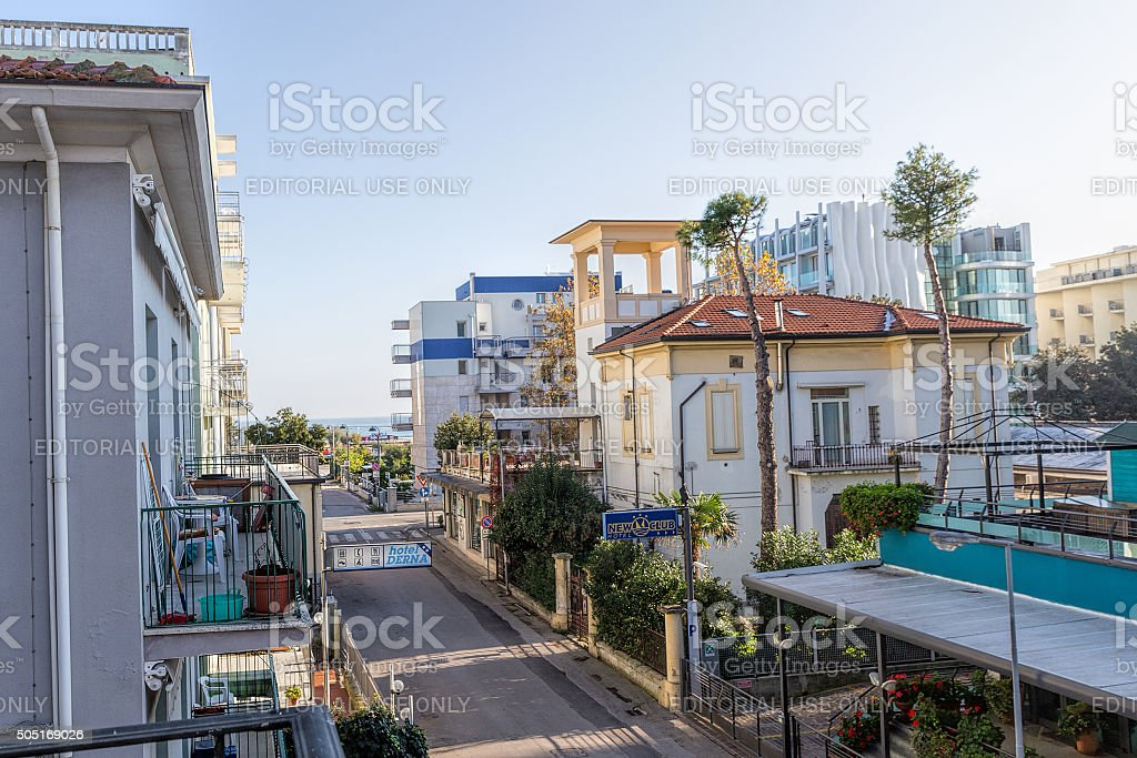 Hotel New Clab and hotel Dern stock photo