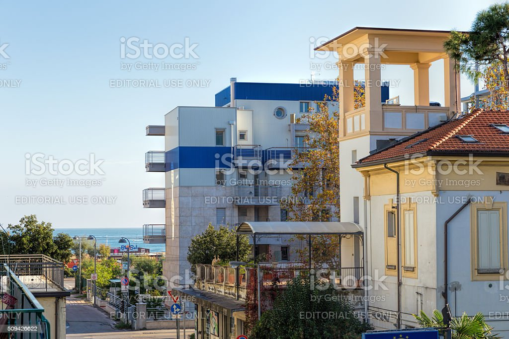 Hotel New Clab and hotel Derna stock photo
