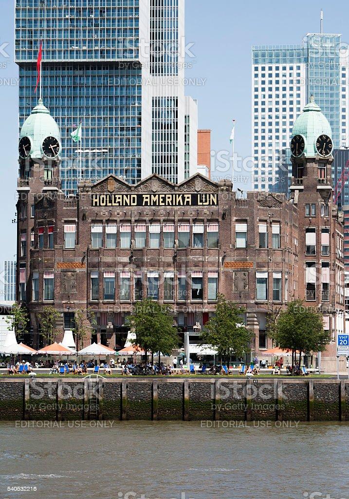 Hotel New York in Rotterdam stock photo