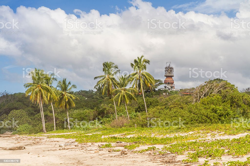 Hotel Nosara Tower and Playa Guiones stock photo