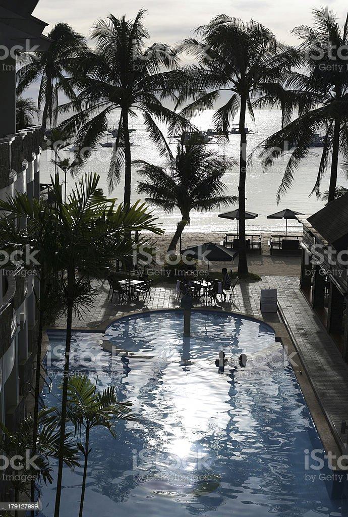 Hotel on Boracay royalty-free stock photo