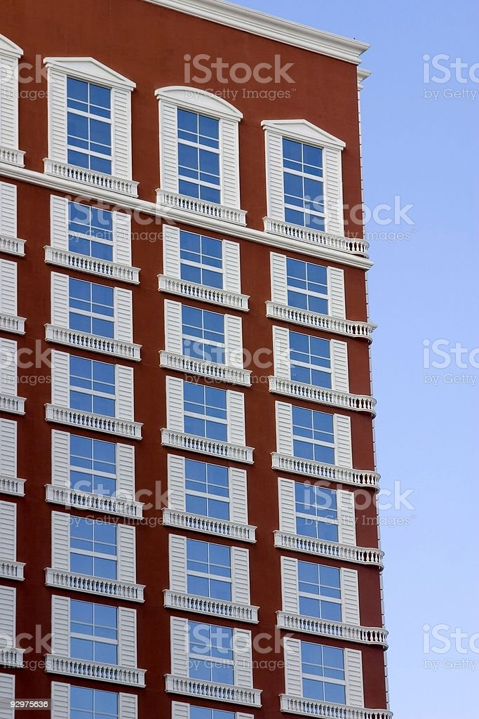 Hotel on the Las Vegas Strip royalty-free stock photo