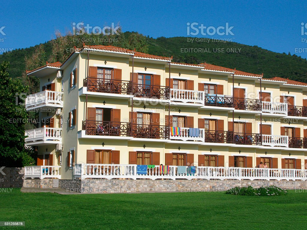 Hotel on tourist resort stock photo