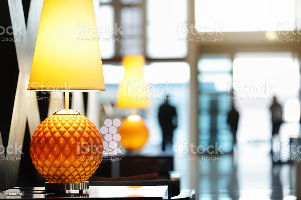 Hotel or office reception area stock photo
