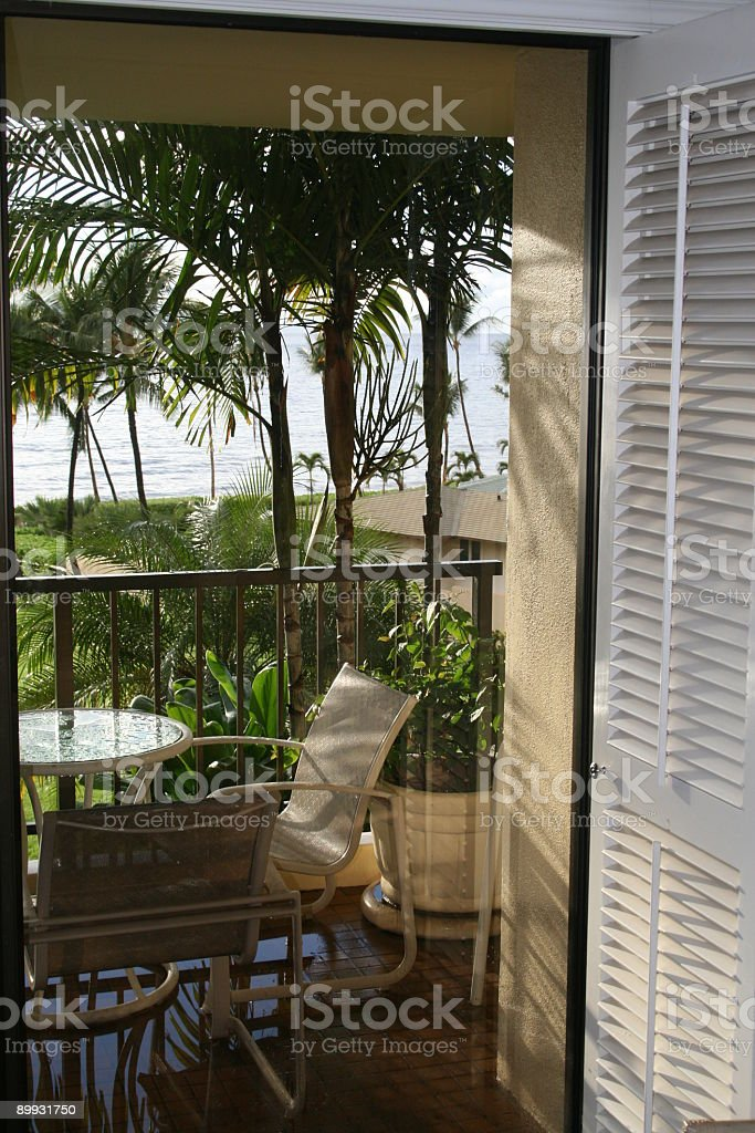 Hotel patio royalty-free stock photo