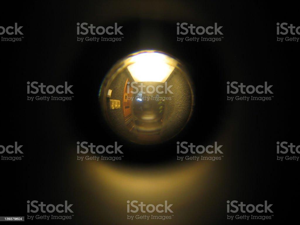 Hotel Peephole stock photo