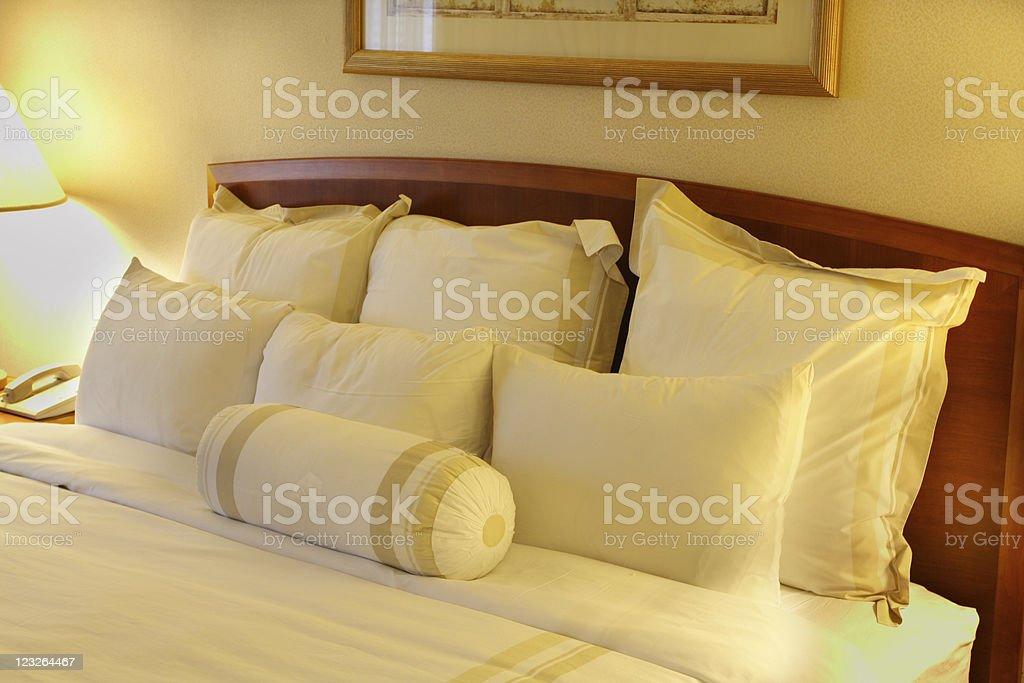 Hotel Pillows stock photo
