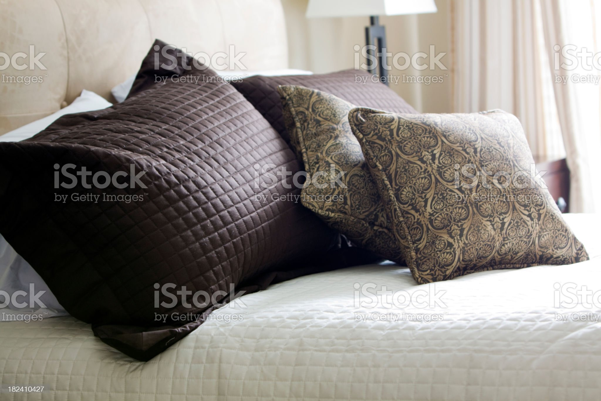 Hotel Pillows with selective focus and natural light royalty-free stock photo