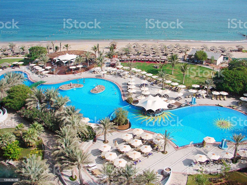 Hotel Pool on beach royalty-free stock photo
