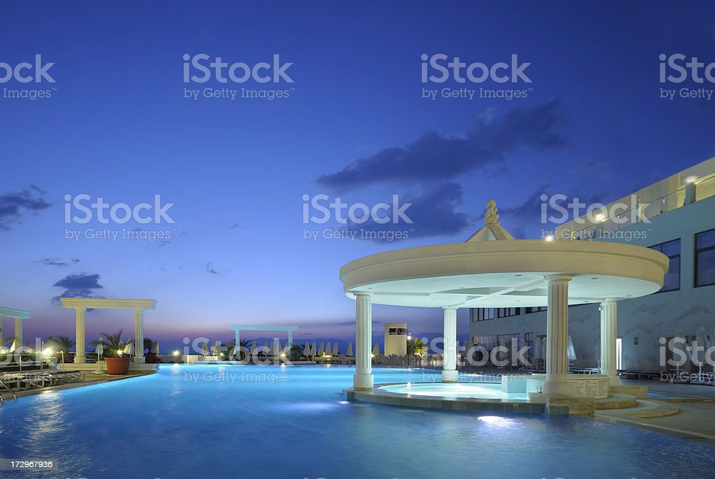 Hotel Pool royalty-free stock photo