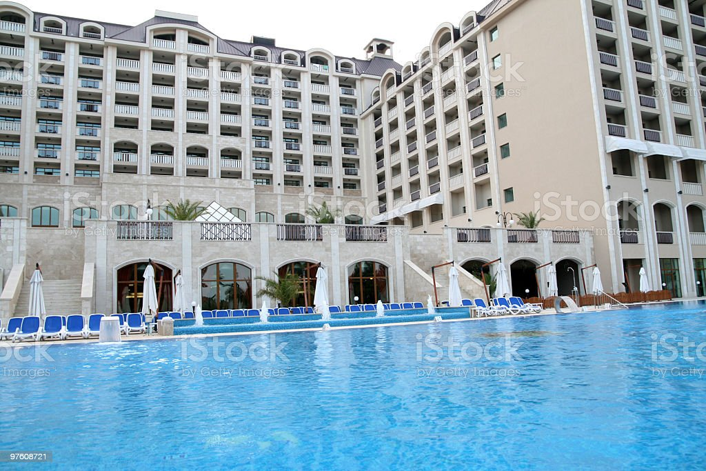 Hotel pool royalty-free stock photo