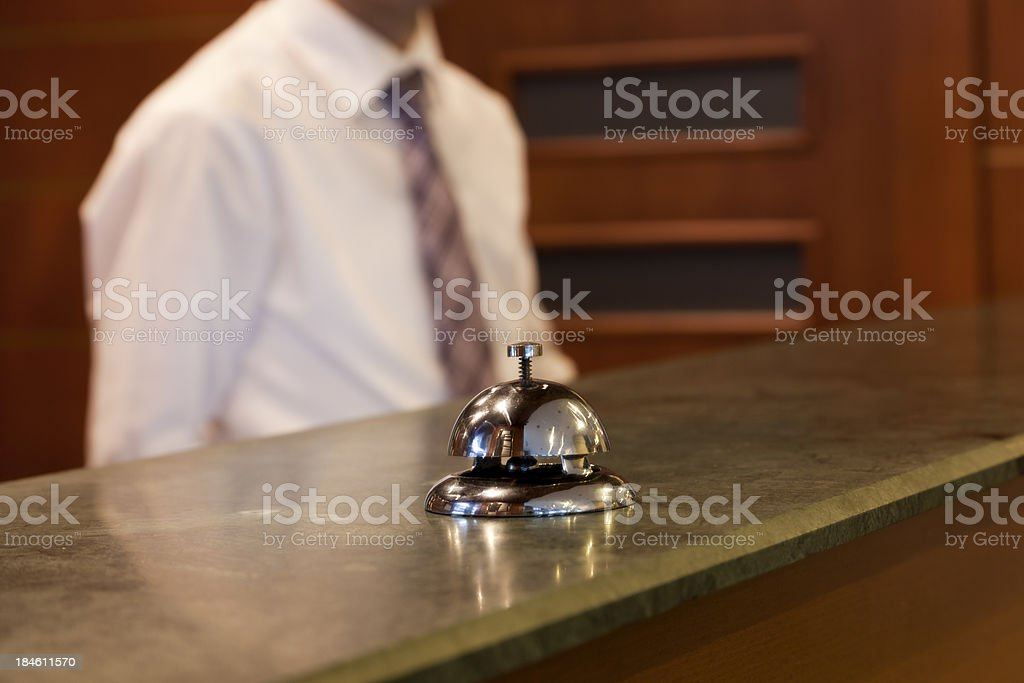 Hotel Reception Bell, ding dong stock photo