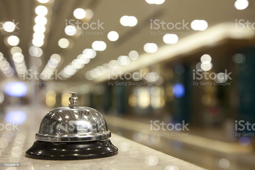 Hotel Reception Bell stock photo