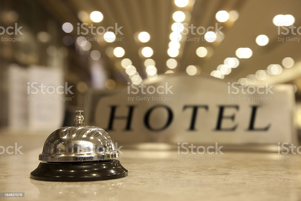 Hotel Reception Bell royalty-free stock photo