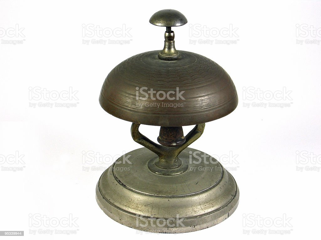Hotel reception service bell - Isolated royalty-free stock photo
