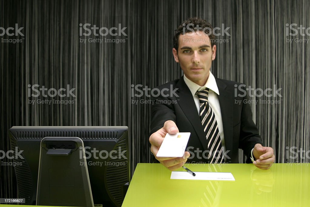 Hotel receptionist royalty-free stock photo