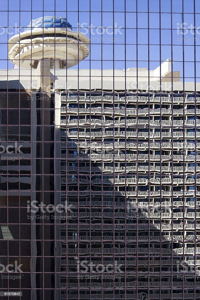 Hotel reflection royalty-free stock photo