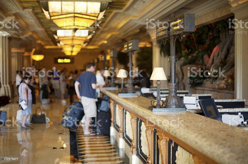 Hotel registration royalty-free stock photo