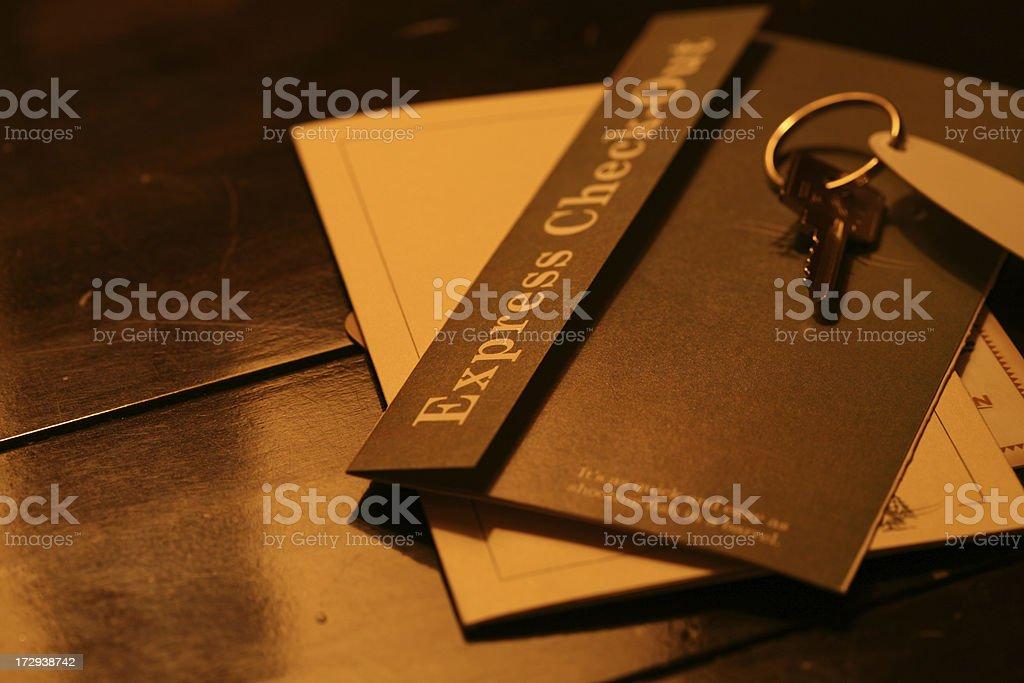 Hotel Registration stock photo
