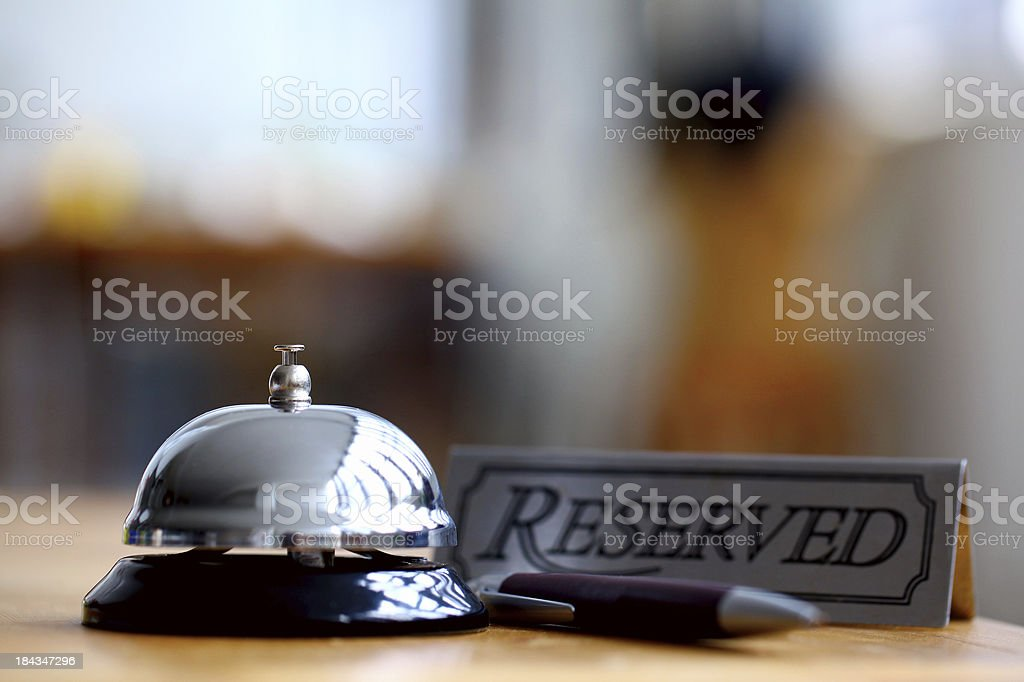 Hotel reservation royalty-free stock photo