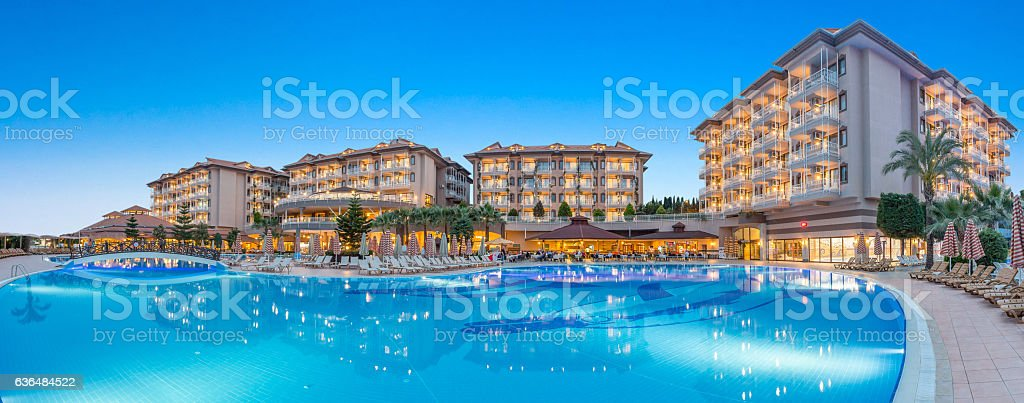 Hotel Resort Swimming Pool stock photo