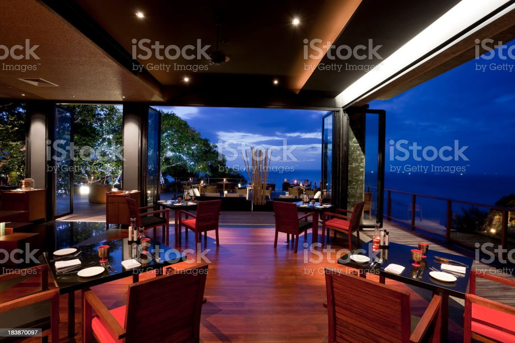 hotel restaurant phuket stock photo