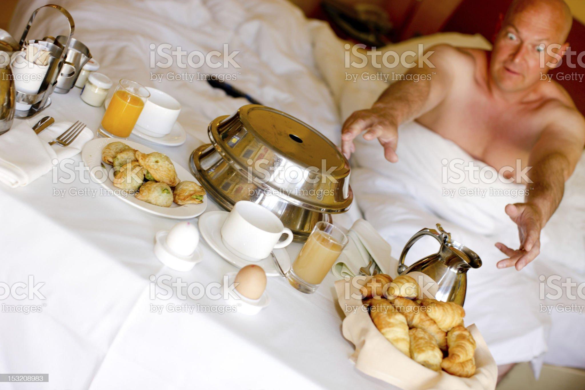 Hotel Room Breakfast royalty-free stock photo