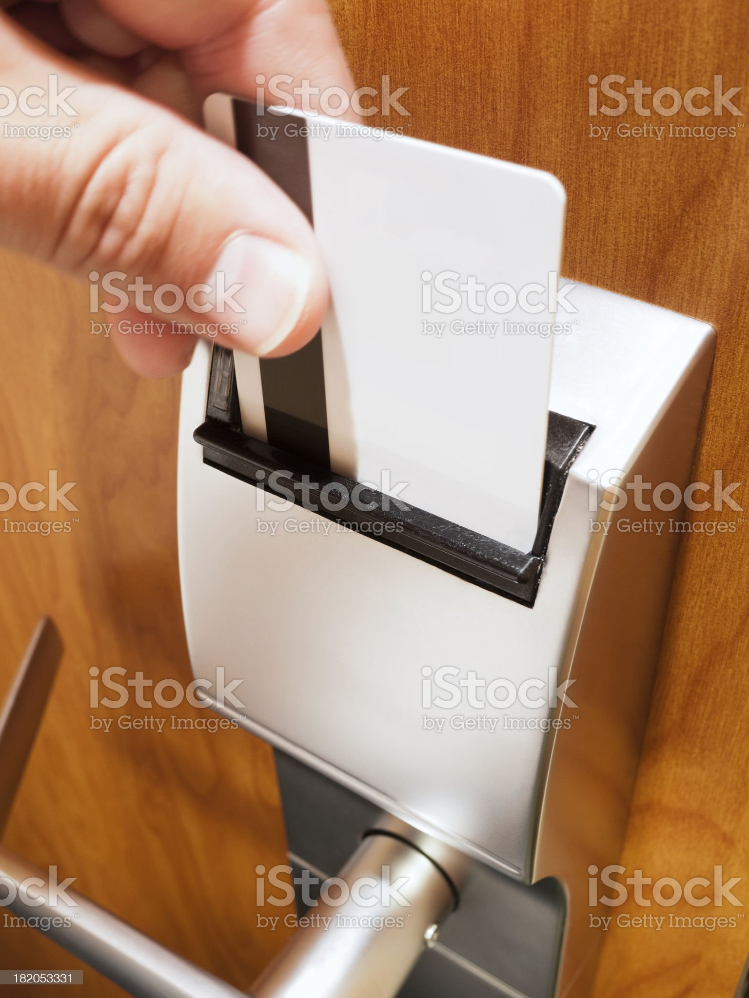Hotel Room Electronic Door Lock royalty-free stock photo