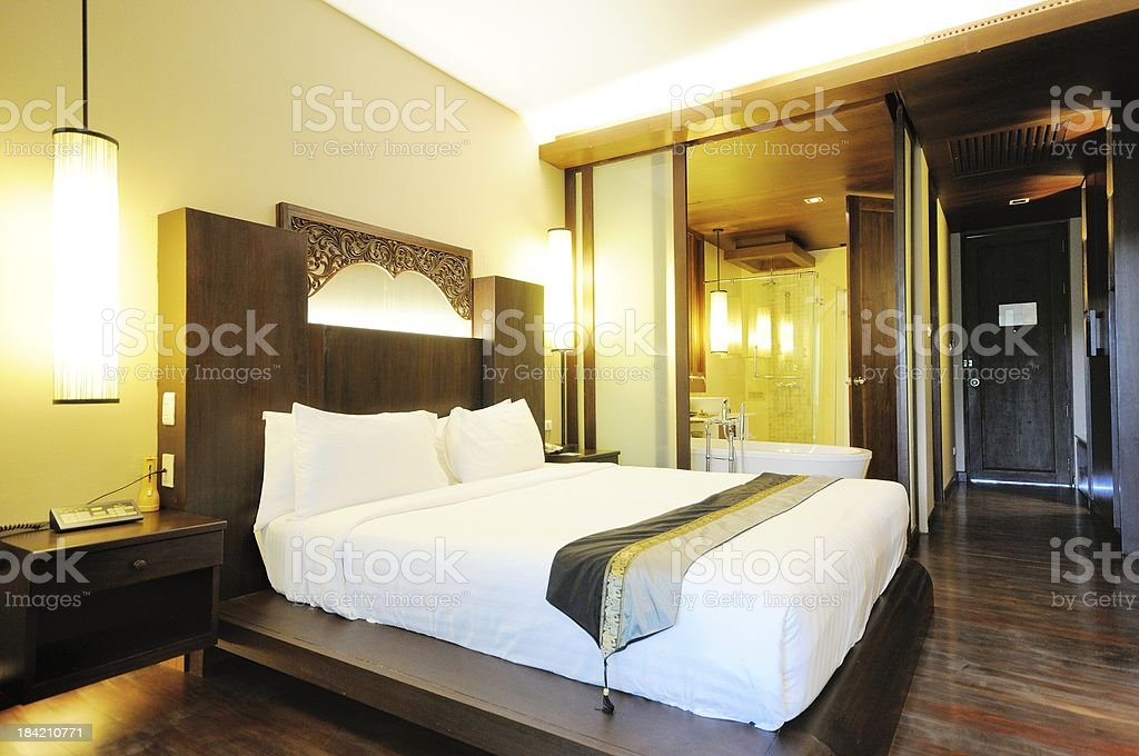Hotel room for rest royalty-free stock photo