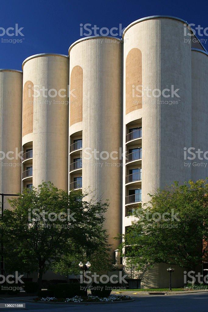 Hotel Room In A Silo 2, Quaker Square, Akron, Ohio stock photo