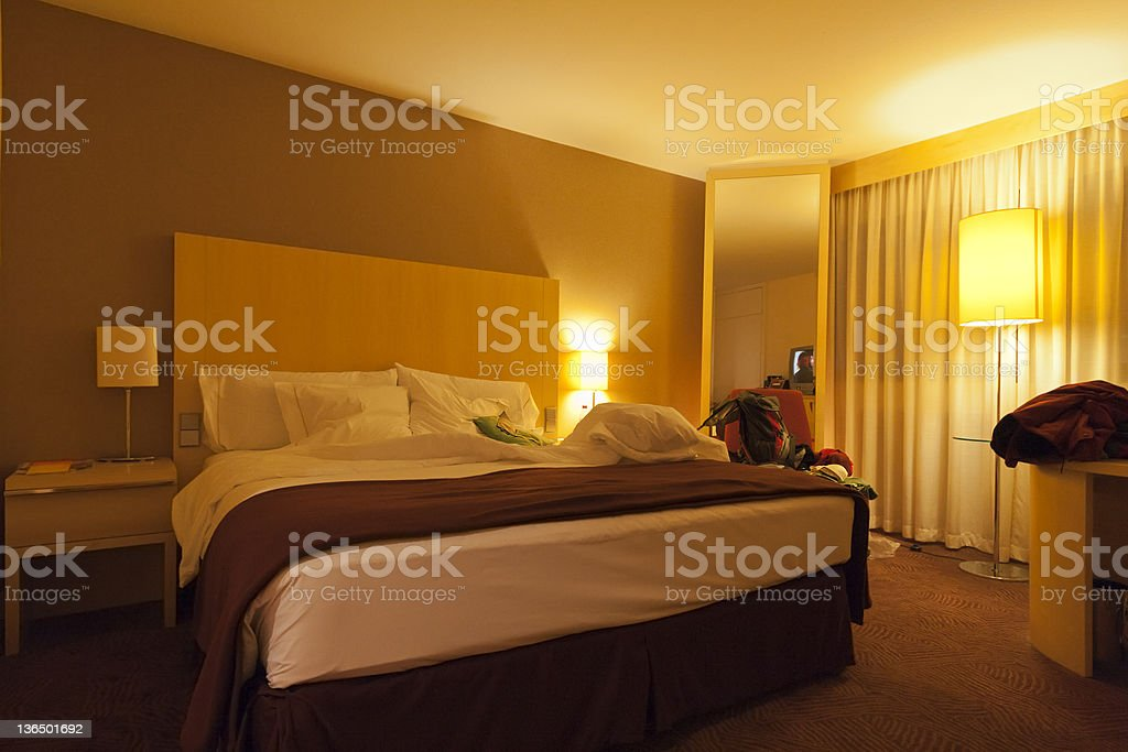 Hotel Room in Germany royalty-free stock photo