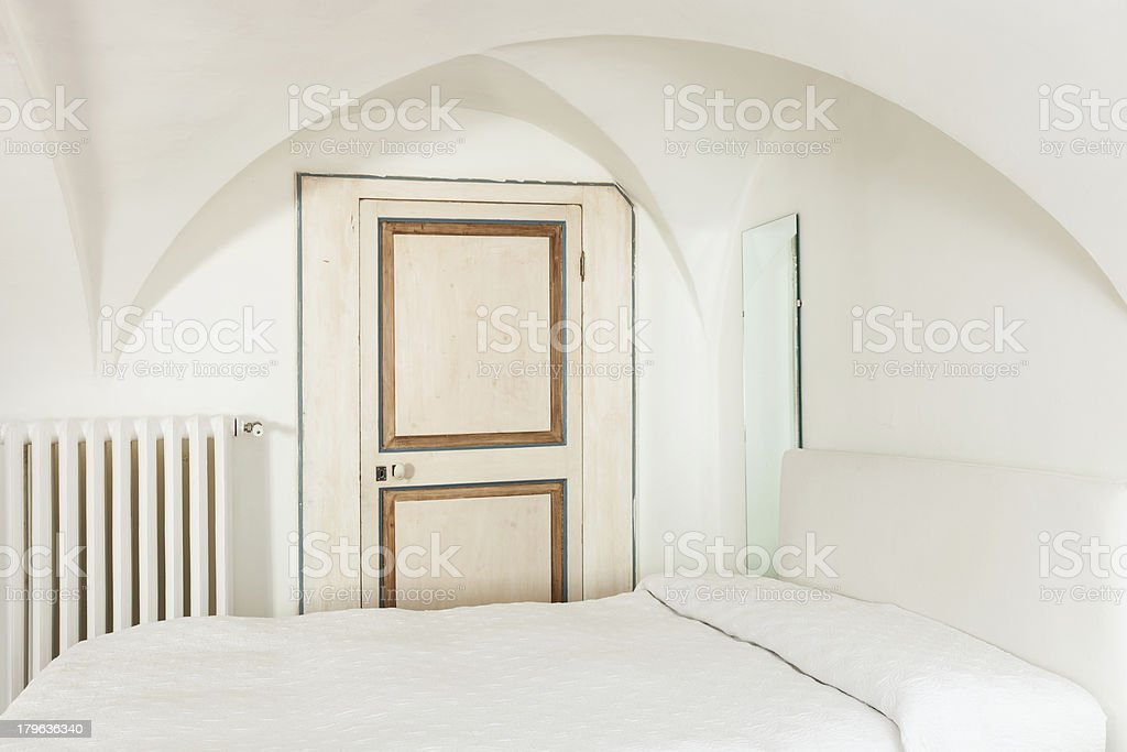 hotel room in historic building royalty-free stock photo
